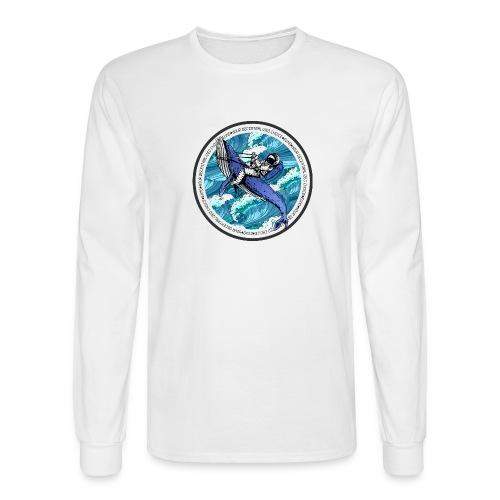 Astronaut Whale - Men's Long Sleeve T-Shirt