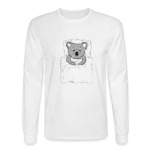 Print With Koala Lying In A Bed - Men's Long Sleeve T-Shirt