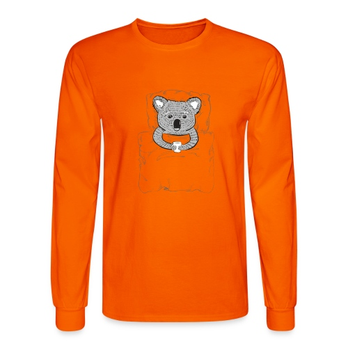 Print With Koala Lying In A Bed - Men's Long Sleeve T-Shirt