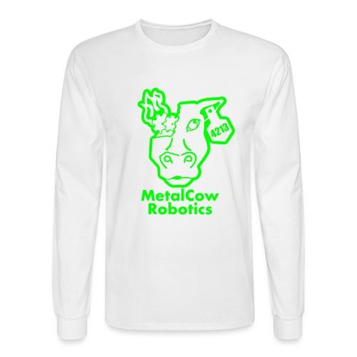 MetalCowLogo GreenOutline - Men's Long Sleeve T-Shirt