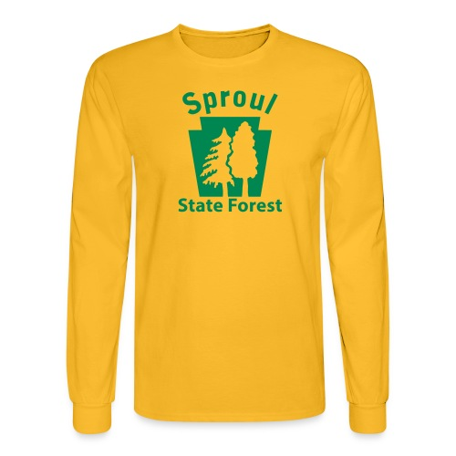 Sproul State Forest Keystone (w/trees) - Men's Long Sleeve T-Shirt