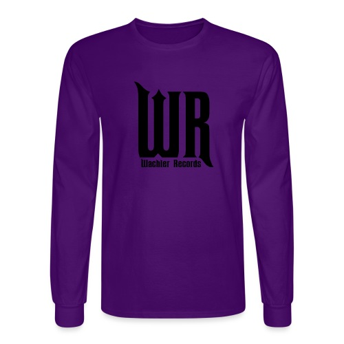 Wachler Records Dark Logo - Men's Long Sleeve T-Shirt