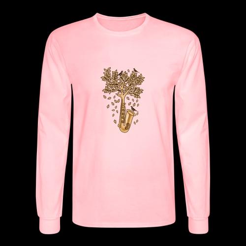 Saxophone Tree of Song Birds - Men's Long Sleeve T-Shirt