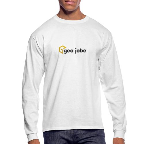 GEO Jobe Corp Logo - Black Text - Men's Long Sleeve T-Shirt
