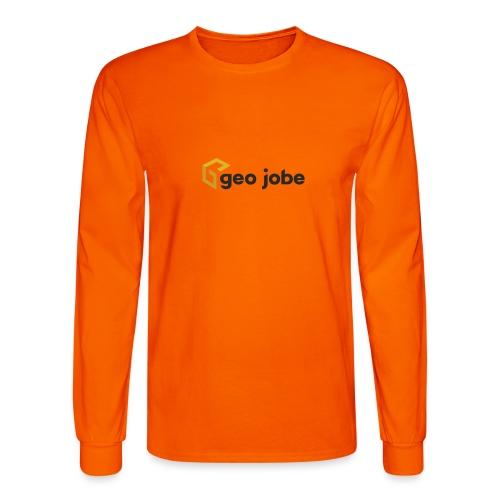 GEO Jobe Corp Logo - Black Text - Men's Long Sleeve T-Shirt
