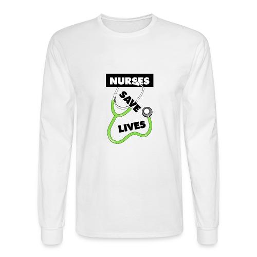 Nurses save lives green - Men's Long Sleeve T-Shirt