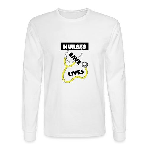 Nurses save lives yellow - Men's Long Sleeve T-Shirt