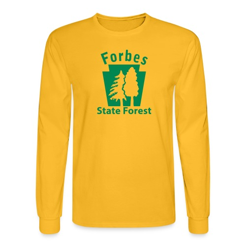 Forbes State Forest Keystone (w/trees) - Men's Long Sleeve T-Shirt