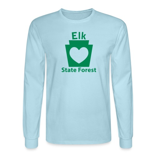 Elk State Forest Keystone Heart - Men's Long Sleeve T-Shirt