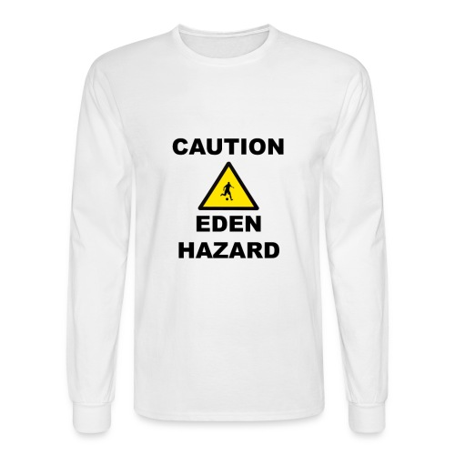 Caution Eden Hazard png - Men's Long Sleeve T-Shirt
