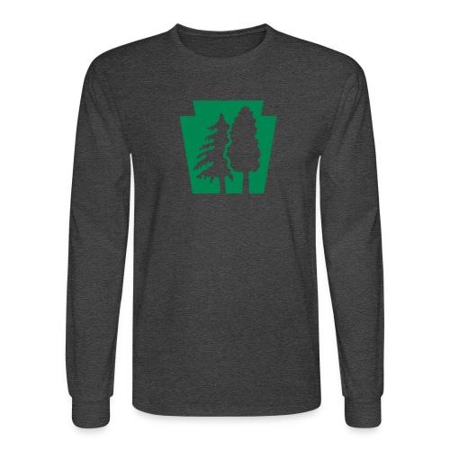 PA Keystone w/trees - Men's Long Sleeve T-Shirt
