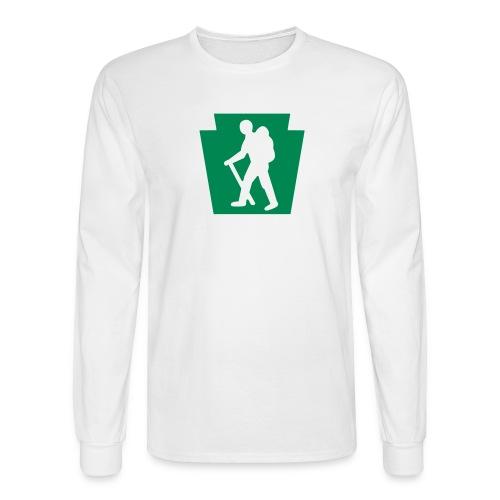 PA Keystone w/Male Hiker - Men's Long Sleeve T-Shirt