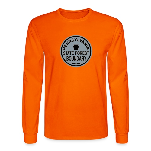 PA State Forest Boundary - Men's Long Sleeve T-Shirt