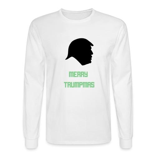 Merry Trumpmas Green - Men's Long Sleeve T-Shirt