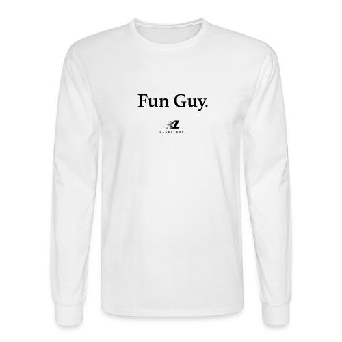 Fun Guy White - KL Basketball Shirt - Men's Long Sleeve T-Shirt