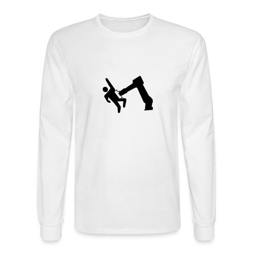 Robot Wins! - Men's Long Sleeve T-Shirt