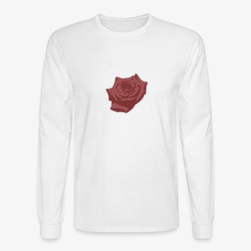 Down Rose Modern - Men's Long Sleeve T-Shirt
