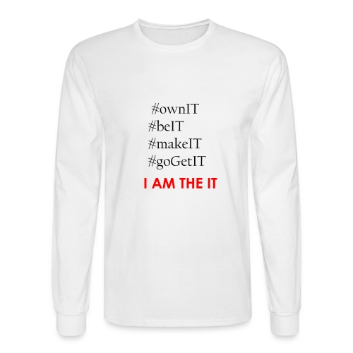 Own_It_-_Letters_Only - Men's Long Sleeve T-Shirt