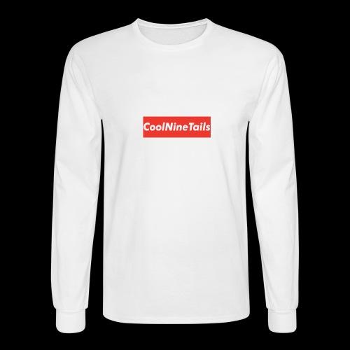 CoolNineTails supreme logo - Men's Long Sleeve T-Shirt