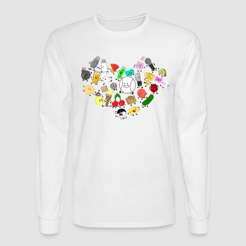Inanimate Heart Color - Men's Long Sleeve T-Shirt