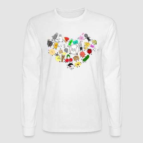 Inanimate Heart Color - Men's Long Sleeve T-Shirt
