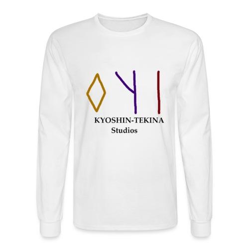 Kyoshin-Tekina Studios logo (black test) - Men's Long Sleeve T-Shirt