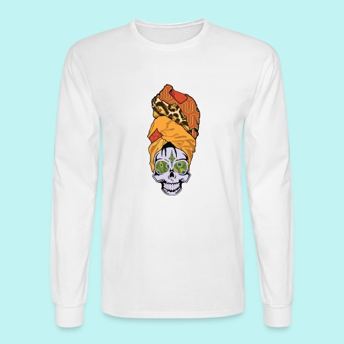 ERYKAH BADU SKULLY - Men's Long Sleeve T-Shirt