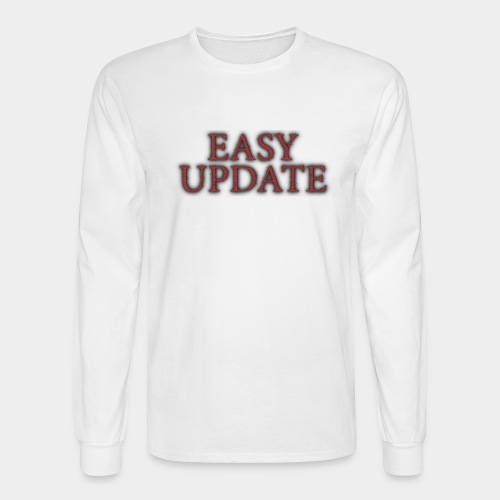 Easy Update Logo Red - Men's Long Sleeve T-Shirt