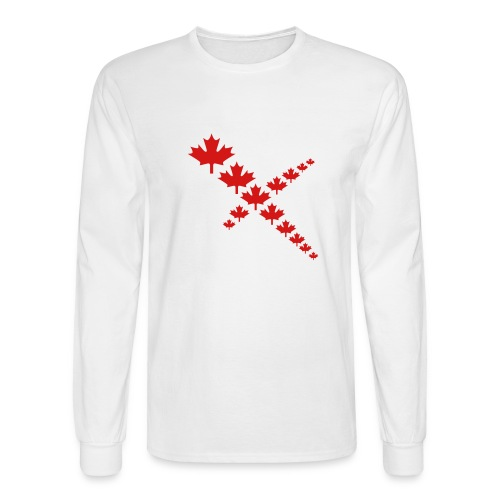 Maple Leafs Cross - Men's Long Sleeve T-Shirt