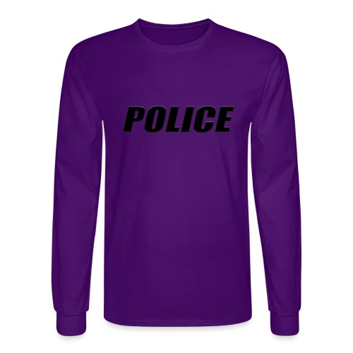 Police Black - Men's Long Sleeve T-Shirt