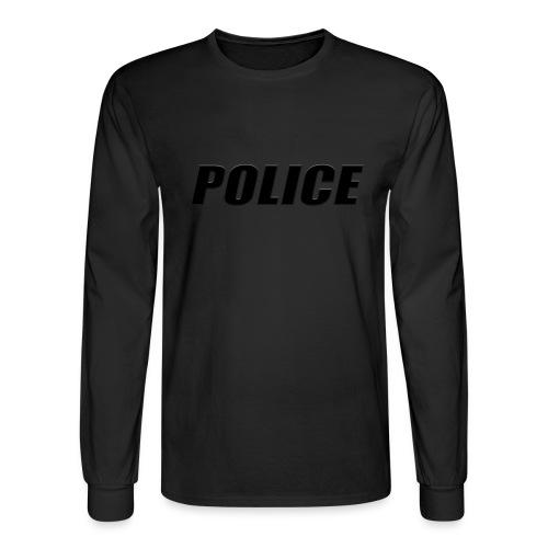 Police Black - Men's Long Sleeve T-Shirt