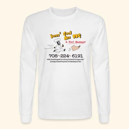 Jones Good Ass BBQ and Foot Massage logo - Men's Long Sleeve T-Shirt