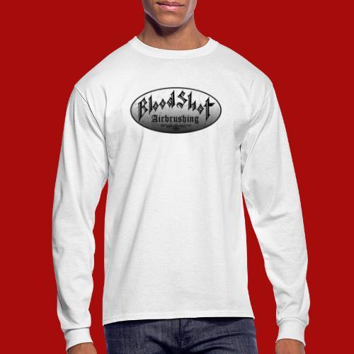 BloodShot Logo Black/White - Men's Long Sleeve T-Shirt