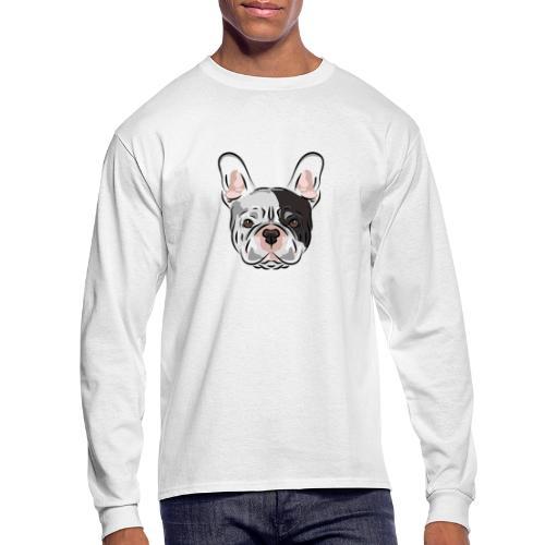 pngtree french bulldog dog cute pet - Men's Long Sleeve T-Shirt