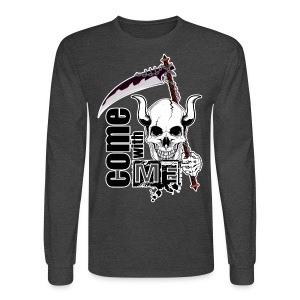 Come with me - Funny Skull with Scythe - Men's Long Sleeve T-Shirt