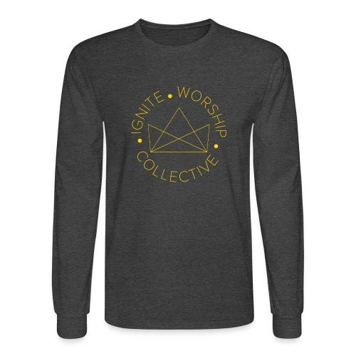 Monogram w/ Crown - Men's Long Sleeve T-Shirt