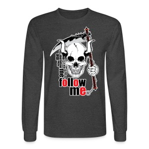 Follow me - Funny Skull with Scythe and Chain - Men's Long Sleeve T-Shirt