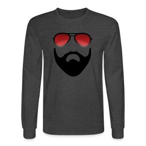 Beard and shades - Men's Long Sleeve T-Shirt