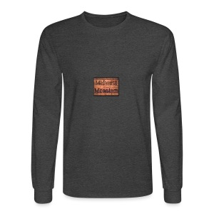 Midwest Monsters Wood Logo - Men's Long Sleeve T-Shirt