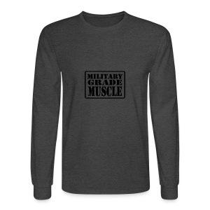 Military Grade Muscle Black - Men's Long Sleeve T-Shirt