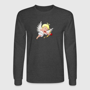 cupid-wings-heart-bow-smile - Men's Long Sleeve T-Shirt