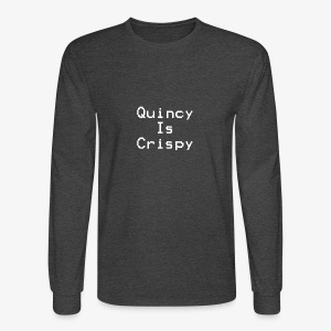 QuincyIsCrispy Text Logo (White) - Men's Long Sleeve T-Shirt