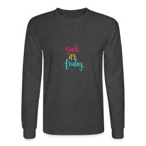 Smile its Friday - Men's Long Sleeve T-Shirt