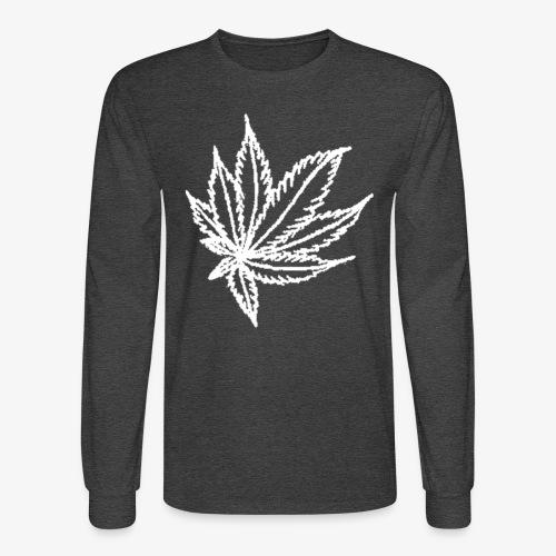 white leaf - Men's Long Sleeve T-Shirt