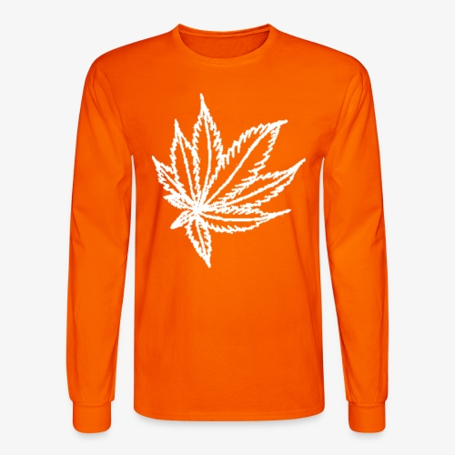 white leaf - Men's Long Sleeve T-Shirt