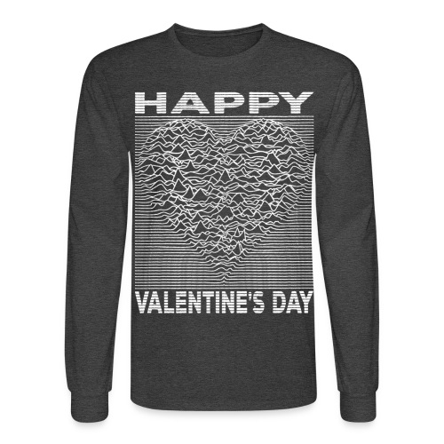 Love Lines Happy Valentines Day Heart - Men's Long Sleeve T-Shirt