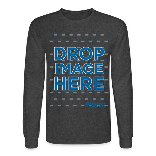 DROP IMAGE HERE - Placeit Design - Men's Long Sleeve T-Shirt