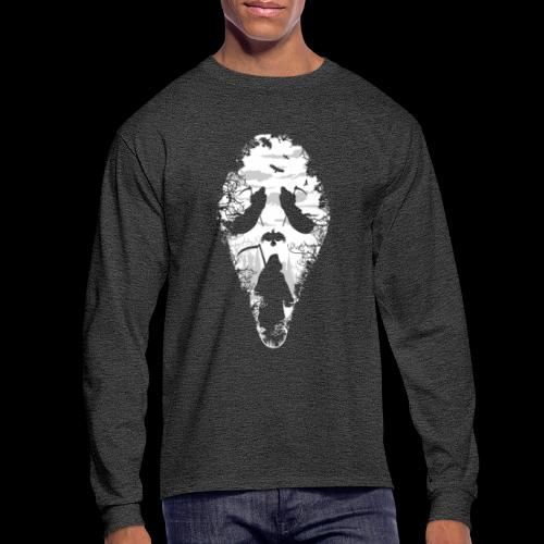 Reaper Screams | Scary Halloween - Men's Long Sleeve T-Shirt
