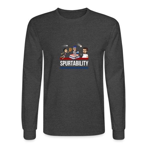 Spurtability White Text - Men's Long Sleeve T-Shirt