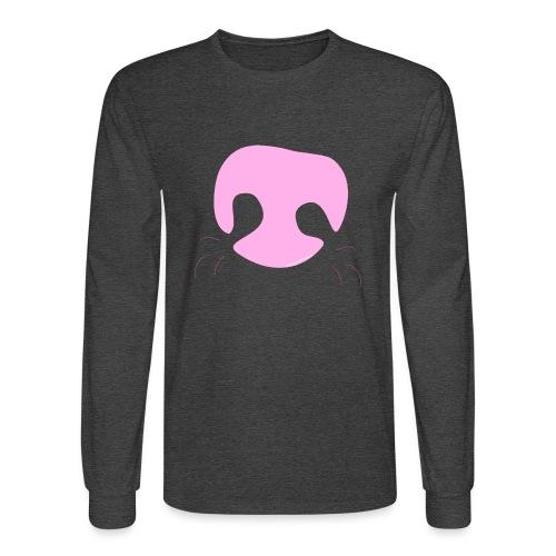 Pink Whimsical Dog Nose - Men's Long Sleeve T-Shirt